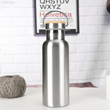 E993 Durable Cycling Drinking Cup Travel Stainless Steel Silver Drinking Bottle