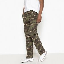 La Redoute Collections Mens Regular Camouflage Print Cargo Trousers