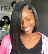 Brazilian Human Hair Wig Lace Front Short Straight Bob Wig Full Lace Wigs Black