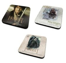 Single Coaster - Genuine The Hobbit Drinks Mat Gift Warner Bros Trilogy Bilbo