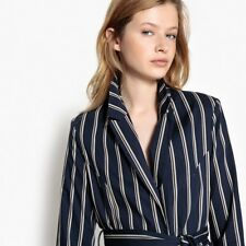 La Redoute Collections Womens Striped Fitted Blazer With Tie Waistnbsp