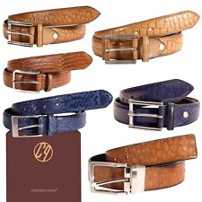 New Men's Genuine Leather Animal Pattern Reversible Fashion Belts