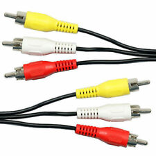 1.5M 3M RCA Male to Plug Cable Lead PHONO Audio/Video Composite AV TV/DVD Wi