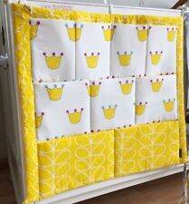 Bed Hanging 60x50cm Baby Storage Bag Crib Organizer Toys Diapers Pocket Bedding