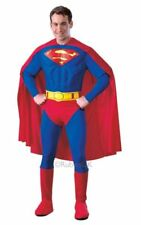 SALE Adult Licensed Muscle Chest Superman Mens Fancy Dress Costume Party Outfit