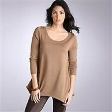 Womens hazel brown scoop neck jumper in size 8 10 12 and 14 new