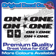 Premium Quality On One Decals Stickers mountain bike road frame mtb