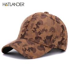 Brand Suede camouflage baseball caps for women mens outdoor hats winter snapback