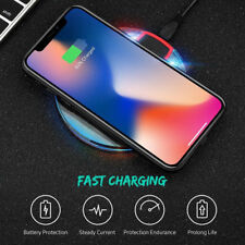 10W QI Fast Wireless Charger Charging Pad Mat For iPhone X 8 Samsung S9+ Note 9