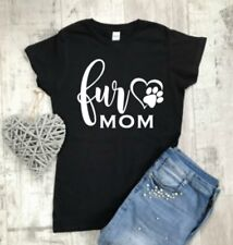 Fur Mom T-Shirt, Funny Slogan T-Shirt, Cat Lover T-Shirt, Dog Lover Gift