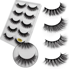 5 Pair 3D Natural Thick False Fake Eyelashes Eye Lashes Makeup Extension