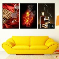 Cigar Flames Canvas Art Print for Wall Decor Wine and Whiskey Scotch Art