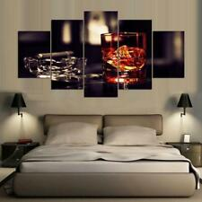 Cigar and Whiskey Canvas Art Print for Wall Decor Wine and Whiskey Scotch Art