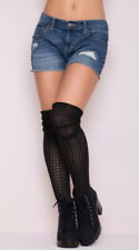 One Size Fits Most Womens Cozy Patterned Thigh High Stockings