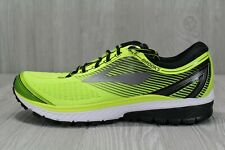 39 New Mens Brooks Ghost 10 Grey Black Volt White Running Shoes Size 12 M