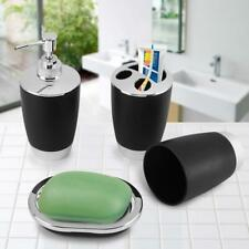 Fdit 4Pcs/Set Bathroom Suit Accessories Include Cup Toothbrush Holder Soap Dish