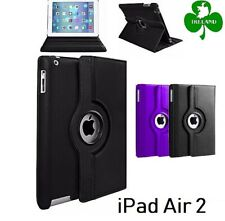 360 Rotating PU Leather Case Compatible For iPad Air 2 Stand Cover New