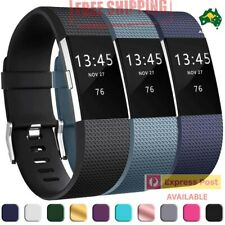 Fitbit Charge 2  Silicon Band Replacement Wristband Watch Strap Bracelet AUS