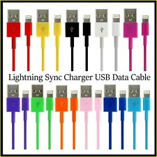 Colour Lightning Sync Charger USB Data Cable Apple iPhone iPad Air