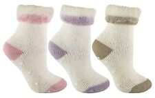 Womens Thick Warm Thermal Brushed Alpaca Wool Slipper Bed Socks with Grips LAWS