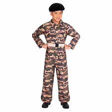 c00484b1599f3 Boys Camo Soldier Costume Kids Army Armed Forces Unifrom Fancy Dress Outfit  Girl