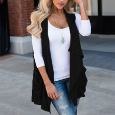 Fashion Women Jacket Sleeveless Coat Vest Spring Autumn Casual Tops Tank Outfit