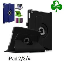 360 Rotating PU Leather Case Compatible For iPad 2 3 4 Stand Cover New