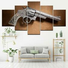 Smith and Wesson Gun Canvas Art Print for Wall Decor