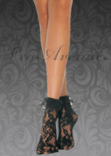 LEG AVENUE DESIGNER LADIES SEXY FRILLY LACE RUFFLE ANKLE SOCKS ANKLETS  #SEXY