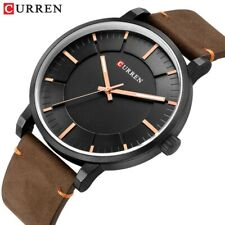 CURREN Mens Luxury Leather Casual Watches Analog Quartz Wristwatch 8332