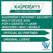 Kaspersky internet security Multi Device 2019 / 2020 [ 5 PC / 1 Jahr ] Download