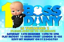 12 X Personalised BOSS BABY Birthday Party Invitation Invites A6