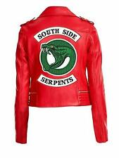 Archie Comics Cheryl Blossom Red Faux Leather Southside Serpent Girl's Jacket