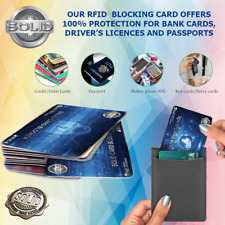 SOLID RFID Blocking Card Credit Debit NFC Contactless Protector Signal Blocker