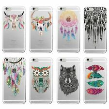 Boho Dream Catcher Wolf Feather skull Soft Phone Case Funda For iPhone 7Plus 7 6