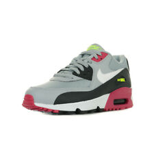 """Chaussures Baskets Nike fille Air Max 90 Mesh Wn's """"Wolf' taille Gris Grise Cuir"""