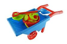 Wheelbarrow Kids Garden Play Set Sand Pit Beach Toy Shovel Sieve Bucket Mold