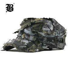 Men's Flat Cap Washed Cotton Camouflage Leaf Military Hats New Style Breathable