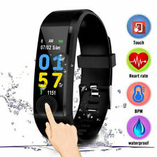 0.96'' OLED Smart Watch for Android iOS w/ Heart Rate Fitness Activity Tracker