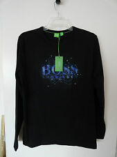 "NWT HUGO BOSS ""TOGN 2"" MEN'S LONG SLEEVE T-SHIRT COTTON BLACK Sz L"