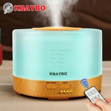 500ml Ultrasonic Air Humidifier Wood Grain Essential Oil Diffuser Aromatherapy