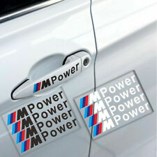 4 PCS M Power Handle Car Sticker Adhesive Auto Door Decal Decoration Fit For BMW