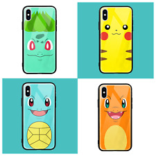 Pokemon Pikachu Glossy Tempered Glass Phone Case Cover iPhone X Max Xr 7 8 plus