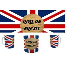 ROLL ON BREXIT MUG Britain's Exit From Europe Biscuit Mugs Limited Ed  #Brexit