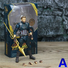 "Marvel Avengers Captain America 6"" Action Figure Steve Rogers Wakanda Shield HOT"