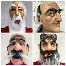 Adult Old Man Grandpa Wizard Nose w// White Moustache Dress Up Costume Accessory
