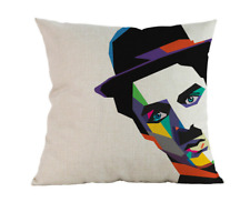 CHARLIE CHAPLIN POP ART Cushion Cover! Movie Film Actor Abstract Case 45cm Gift