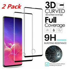 For Samsung Galaxy S10 S10 Plus S9 Full Cover Tempered Glass Screen Protector 2x