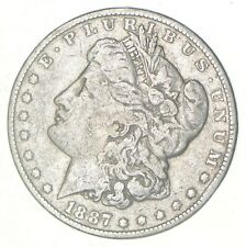 Early 1887 Morgan Silver Dollar - 90% US Coin *419