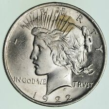 Choice AU/UNC 1922 Peace Silver Dollar - 90% Silver *735